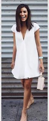 Sexy Women Summer Deep V-Neck Dresses Short Mini Black Dress New Casual Plus Size White Summer Clothes
