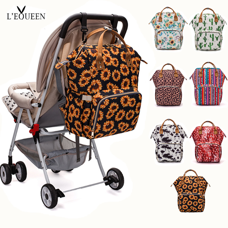 [LEQUEEN Official Store]Diaper Bag Baby Care Backpack Travel Waterproof Antifouling Backpack Stroller Bag Nappy Bag Stroller Bag