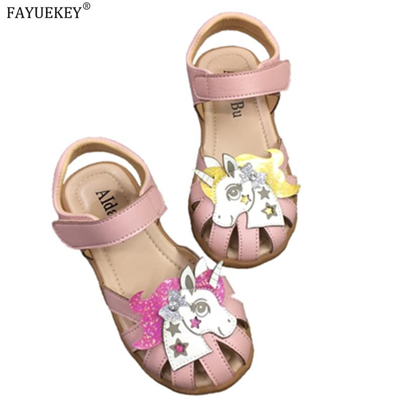 Rainbow Unicorn Sandals Infant Girls