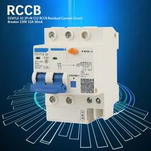 DZ47LE-32 2P+N C63 RCCB Residual Current Circuit Breaker 230V 32A 30mA air switch circuit breaker dz47le residual current circuit breaker with surge protector rcbo small mcb rccb with lightning protection spd