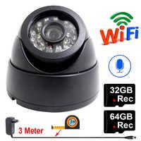 JIENUO 64G Ip Camera Wifi 1080P 720P HD 32G Audio Indoor Night Vision CCTV Security Surveillance Network Wireless Home Camera