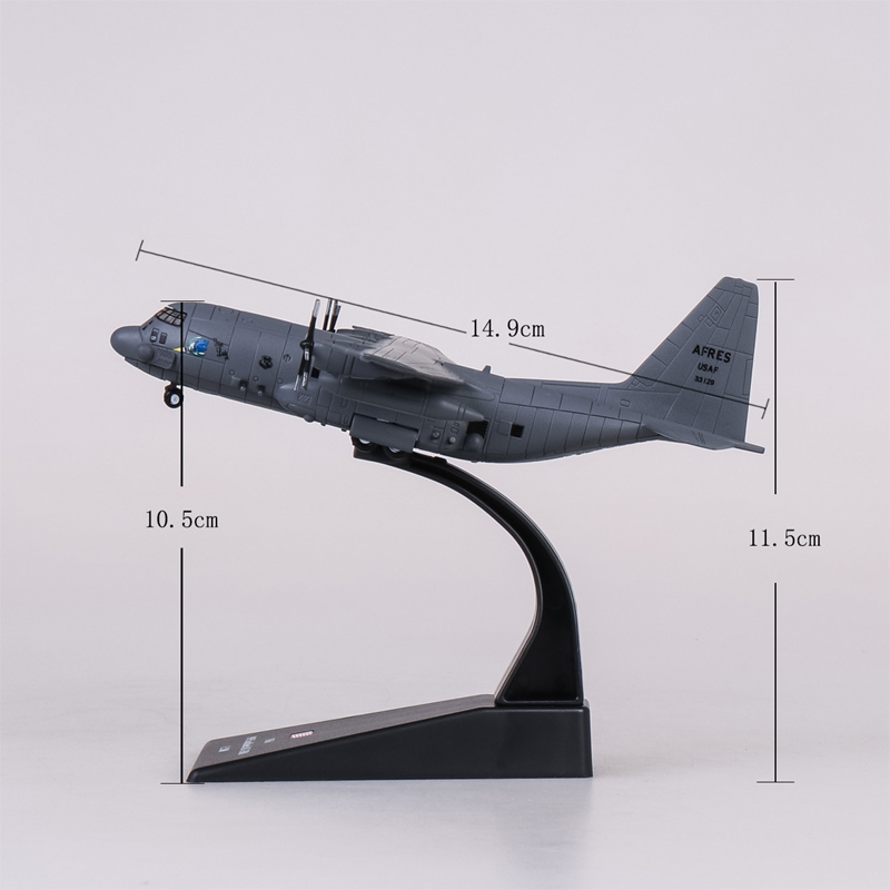 Aircraft Model Diecast Metal 1:200 Scale Military Model Toys AC-130 Gunship Ground-attack Airplane Models Plane For Collections