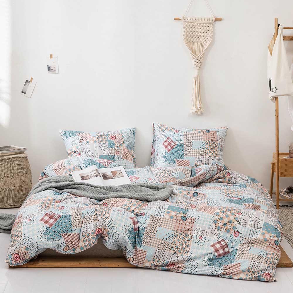 Modern California Bohemia Comforter Bedding Set Queen Twin Kids Sanding Duvet Cover Set Flower Pillowcase Duvet Cover