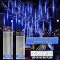 30cm /50cm Waterproof Meteor Shower Rain 8 Tube LED String Lights For Outdoor Holiday Christmas Decoration Tree EU/US/AU/UK Plug