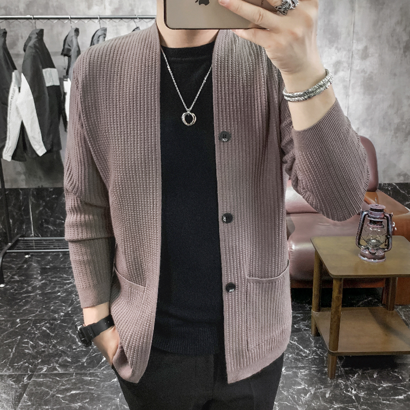 New Knitted Cardigan Men's Coat Owner Style Jacket Sweater Casaco Masculino Spirit Men's Sweater Hombre Botones Men Clothing