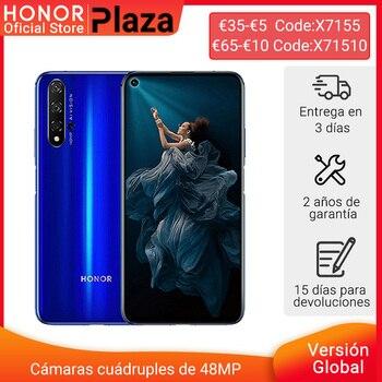 Перейти на Алиэкспресс и купить 120-12 евро Код: ALIMARCAS12 глобальная версия Honor 20 смартфон 6 ГБ 128 ГБ Kirin 980 ''48MP четыре камеры Google Play NFC