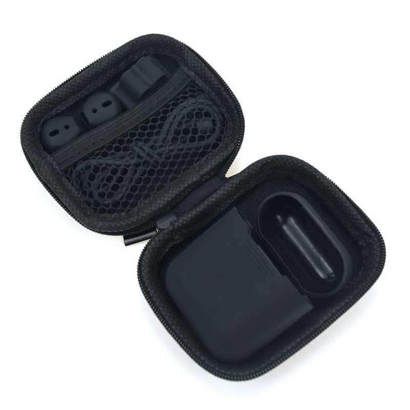 Jiyaru nueva caja de auriculares accesorios de viaje monederos de monedas bolsas de dinero bolsas de auriculares portátiles con cremallera bolsas de auriculares de embalaje Organzier