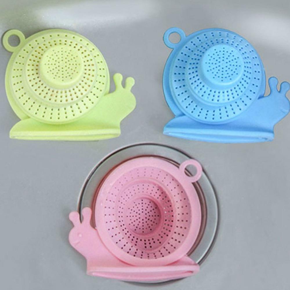 New Kitchen Sink Sewer Drain Anti Plug Snail Shape Folding Telescopic Silicone Water Drain Drain