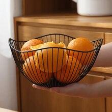 Simple moderne fer fruits panier fruits conteneur bol maison créative collations pain stockage Drain panier Table collations présentoir