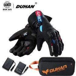 Duhan Winter Motorrad Handschuhe Konstante Temperatur Heizung Warme Winddicht 100% Wasserdichte Moto Guantes Motorrad Reiten Handschuhe