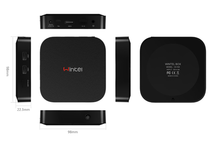 2017 Hottest Model INTEL Z8300 4cores 1.84GHz 64bit Wintel W8 Pro Unblock Tv Box