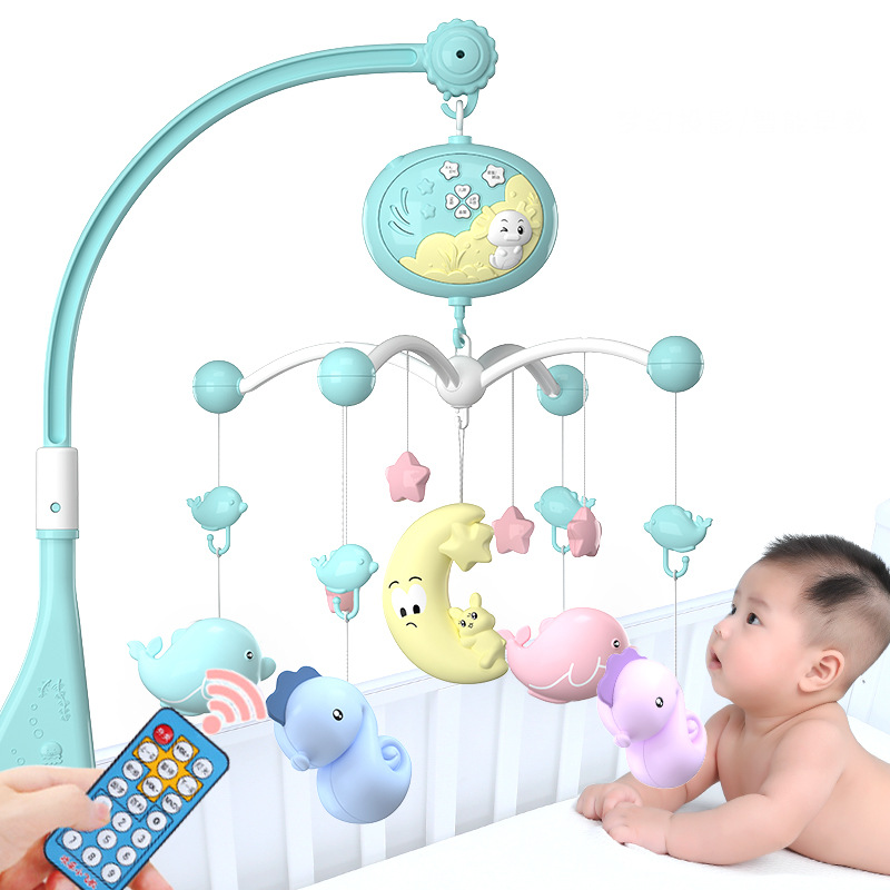 Toy Musical Mobile Baby Bed Wind Bell 0-12 Months Plastic Lullaby Rattles Toy Pram Presepe Presepio Christmas Toddler Toy AA50YL