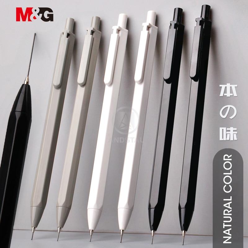 M&G 3pcs/lot Simple Hexagon Mechanical Pencil 0.5mm HB Automatic Pencil Stationery Auto Pencils For School Office Supplies