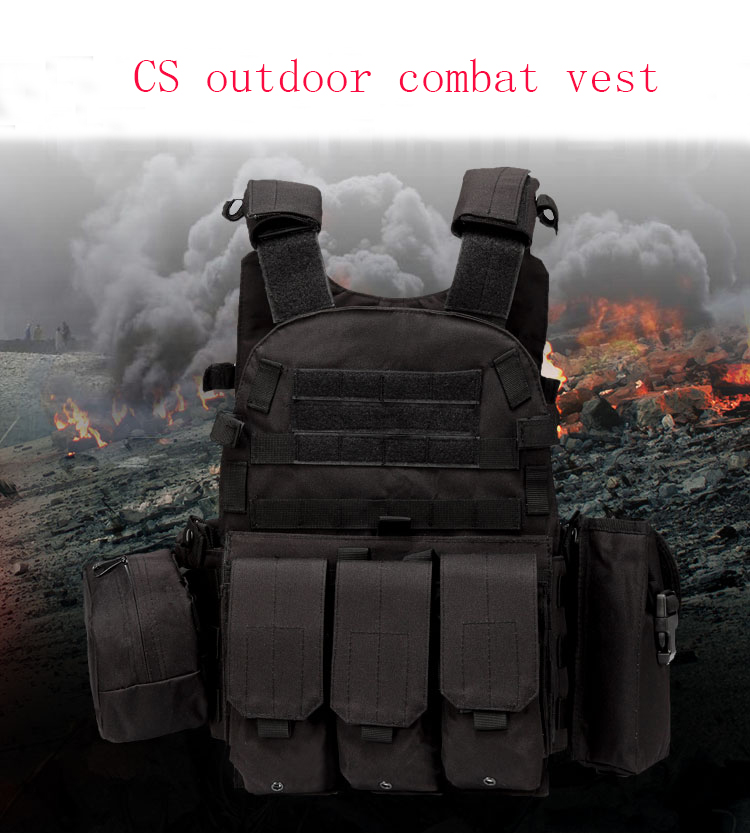 Outdoor 6094 tactical vest seal lightweight multifunctional special forces CS combat equipment vest combat vest camouflage