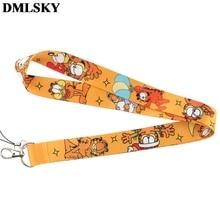 DMLSKY брелок для ключей с котом из мультфильма милый ремешок для телефона женский модный ремешок на шею для ключей для ID карты M3874