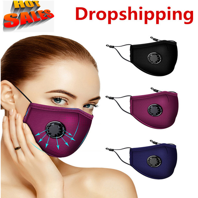 Dropshipping PM2.5 Mouth Mask Anti Dust Mask Activated Carbon Filter Windproof Mouth-Muffle Bacteria Proof Flu Face Masks Care