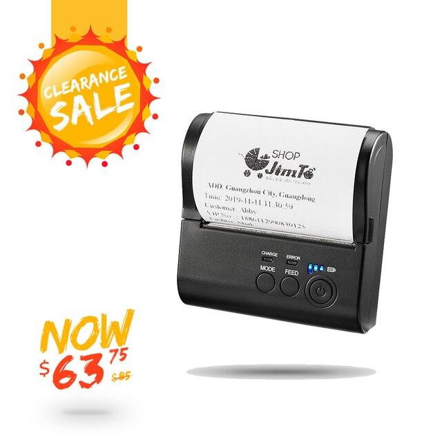 IssyzonePos 블루투스 영수증 80mm 프린터 열전 사 프린터 안드로이드 iOS 미니 바코드 모바일 프린터 무료 POS APP 티켓 소매