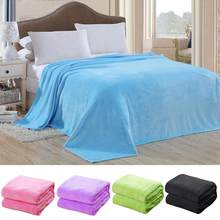 100*70cm Soft Solid Color Warm Blanket Bed Blanket Throw Blanket Home Living Room Bedspread Bedding Cover Rug Decor(China)