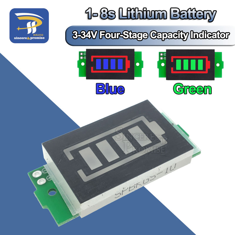 1S 2S 3S 4S 6S 7S 8S Series Lithium Battery Capacity Indicator Module Display Electric Vehicle Battery Power Tester Li-po Li-ion(China)