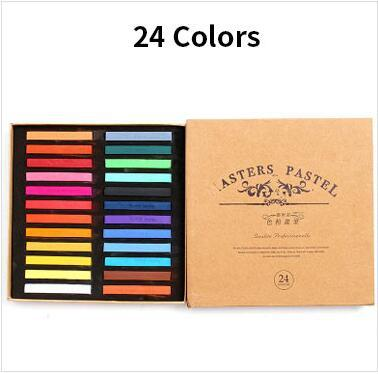 48 Colors Painting Crayons Soft Pastel Art Drawing Set Hair Color Chalk Color Crayon Brush Stationery for Students art Supplies 5