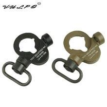 Vulpo troy dupla placa de extremidade lateral flexível qd sling montagem push botton adaptador apto para m4 m16 airsoft bk de