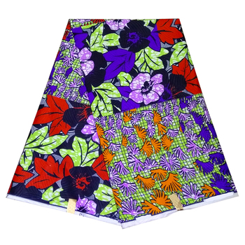 Wholesale prices!african wax print fabric 6 yards high quality Nigeria Ankara wax fabrics polyester fabric for dresses ghana free shipping ankara african wax print fabric tissu africain nigeria batik fabric 6 yards 100% polyester african wax fabric 1307