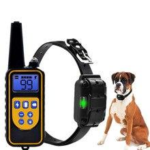 Тренировочный ошейник для собак, электрический, водонепроницаемый, перезаряжаемый ошейник антилай с дистанционным управлением и ЖК дисплеем для всех размеров