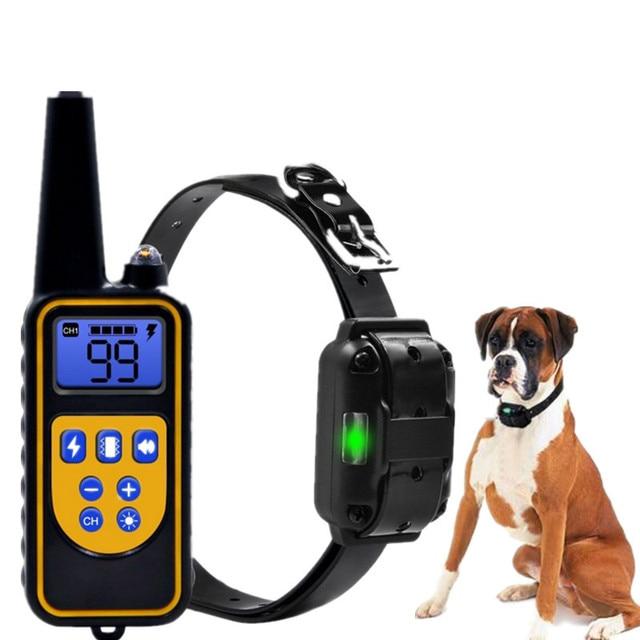 전기 개 훈련 칼라 모든 크기에 대 한 LCD 디스플레이와 방수 충전식 원격 제어 애완 동물 나무 껍질 중지 칼라 40% 할인