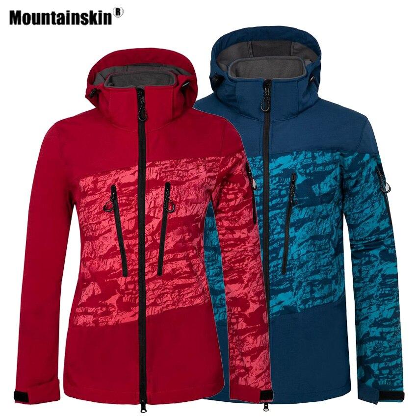 Mountainskin Men Women's Hiking Softshell Jackets Fleece Outdoor Sports Thermal Windbreaker Camping Trekking Climbing Coat VA580