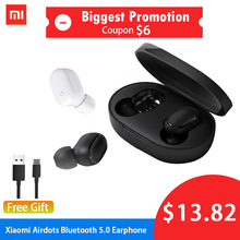 Xiaomi Redmi Airdots Wireless Bluetooth 5.0 Charging Earphone In-Ear stereo bass Earphones AI Control With Mic Handsfree Earbuds xiaomi tws airdots bluetooth earphone youth version stereo bass bt 5 0 headphones mic handsfree earbuds ai control