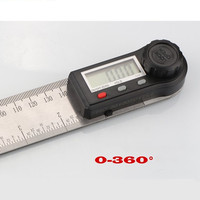 Electronic numerical display angle ruler carpentry multi functional angler inclination meter horizontal ruler -