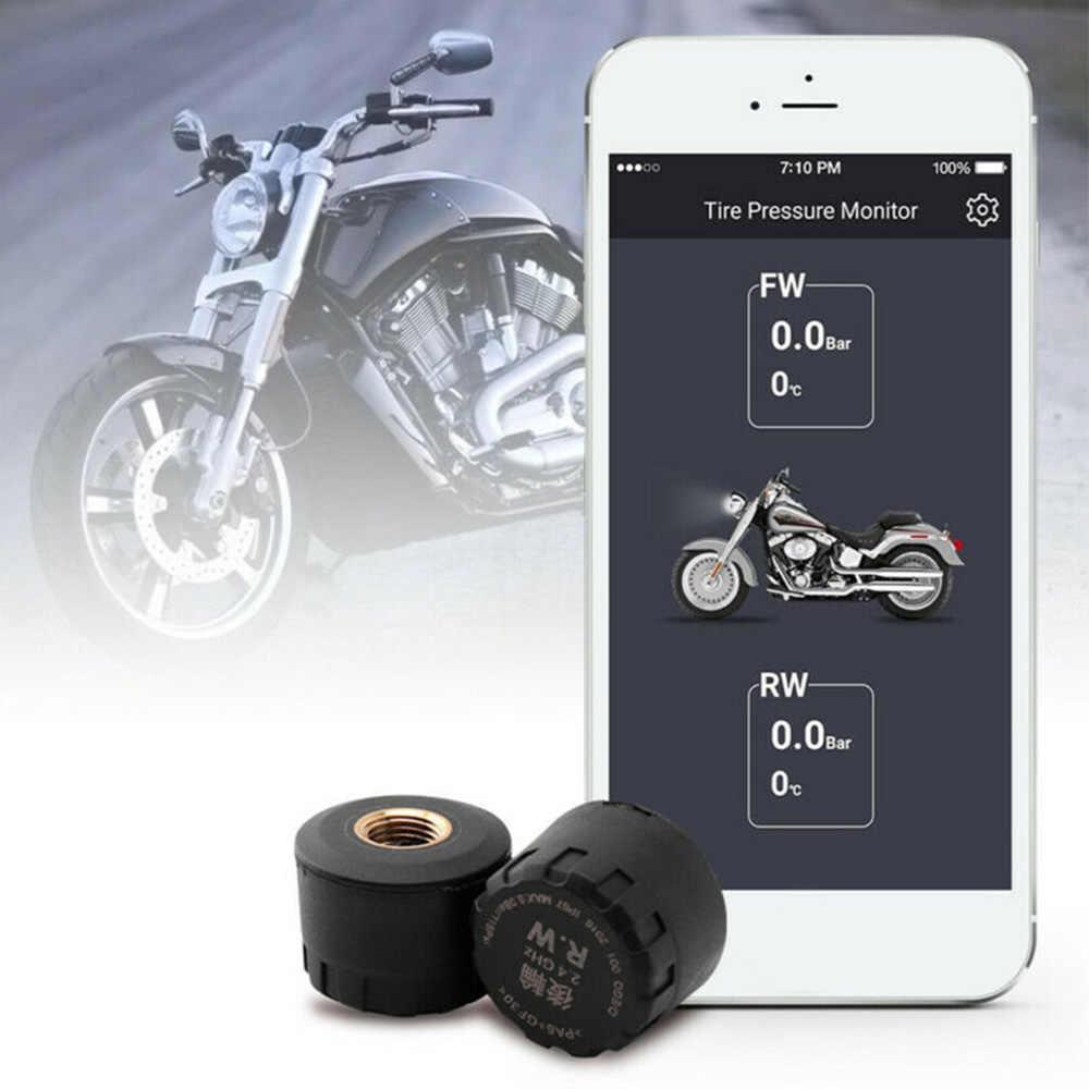 2 шт. водонепроницаемый датчик давления в шинах монитор TPMS Bluetooth 4,0 для мотоцикла