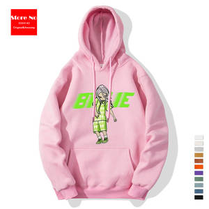 Billie Cartoon Image Text Print Sweatshirt Unisex Thick Hoodie Fashion Padded Women's Sweatshirt Men's Sweatshirts