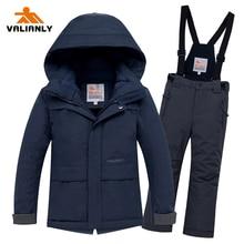 2019 Boys Winter Ski Suit Children Snow Suit Waterproof Warm Kids Ski Jacket Pants 2 Pieces Snowboarding Sets Kids Boys Clothes стоимость