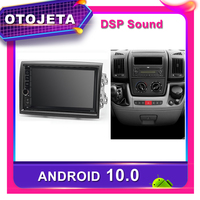 Frame android 10.0 dvd player car radio for Peugeot Boxer Fiat Ducato Citroen Jumper Car GPS dsp stereo multimedia tape recorder