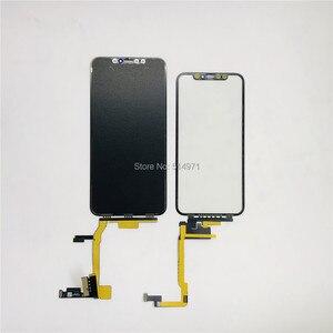 Image 3 - 5 יח\חבילה מגע מסך Digitizer זכוכית עדשת פנל עבור iPhone X XSmax LCD מסך חיצוני סדוק זכוכית החלפת לא צריך הלחמה