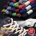 Reflective Round Shoe Laces Sneakers Shoelaces Athletic Sports Rope Laces Fluorescent Laces Running Shoestrings