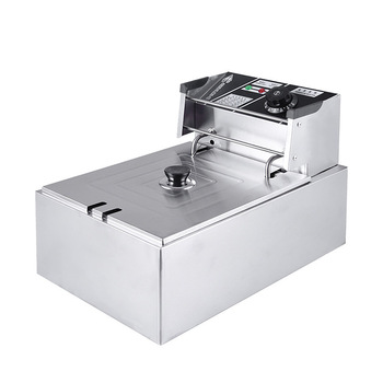 цена на Commercial Electric Fryer Single-cylinder Deep Fryer Fried Chicken Stove Household Electric Frying Machine MS-81