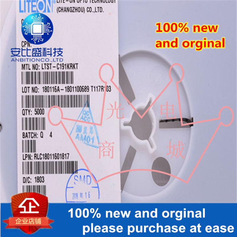 10pcs 100% New And Orginal LTST-C191KRKT 0603 Red Uses: Digital Products, Home Appliances In Stock