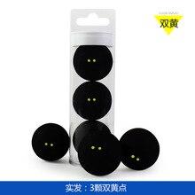 3 шт Зазубренные двойные желтые точки Сквош супер-медленная Профессиональная игра с мячом FANGCAN fang can Three tou ming tong
