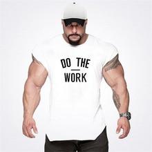 New Muscle Cotton Fitness Stringer Workout Vest Gym Tank Tops Men Sleeveless Tanktops Fashion Bodybuilding Clothing Undershirt цена