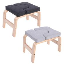 Birch Wood Inverted Yoga Stool Gym Fitness Equipment Home Indoor Headstand Bench Handstand Chair Bod