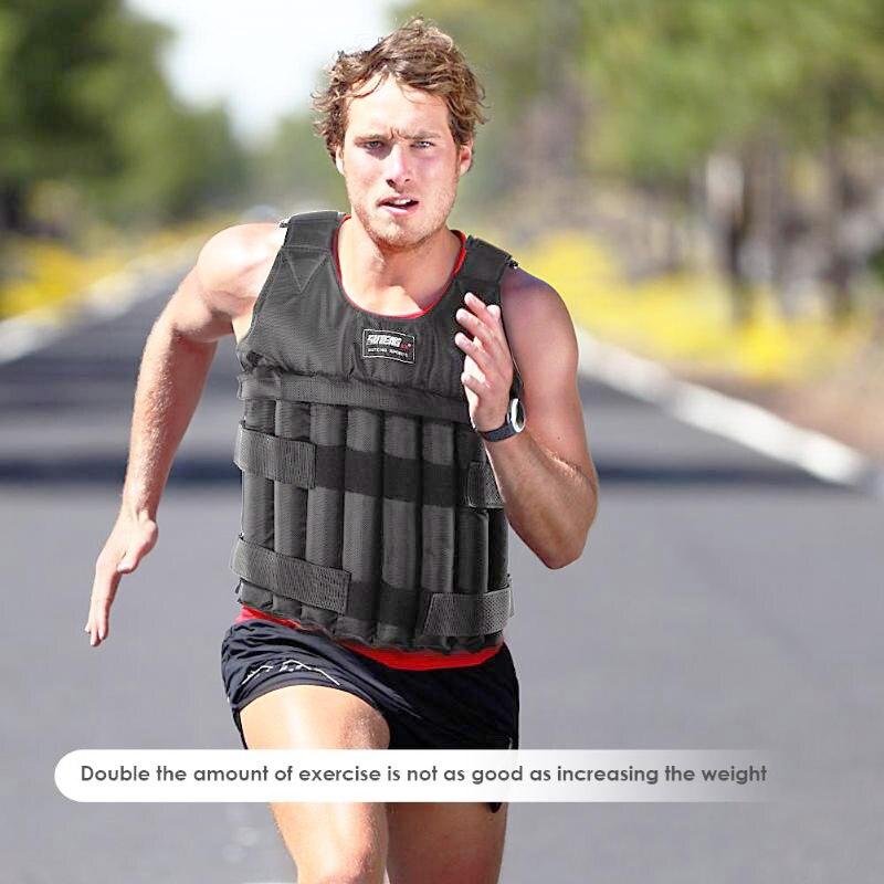 Max 20/50 kg carga ponderada colete jaqueta peso de carga colete exercício boxe treinamento equipamentos de fitness para correr 2019
