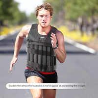 Max 20/50 kg di Carico Weighted Vest Giacca di Peso del Carico Della Maglia Esercizio Allenamento di Boxe Attrezzature per Il Fitness per Corsa e Jogging 2019