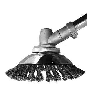 Image 3 - 8 polegada erva daninha grama trimmer lâmina à prova de ruptura com fio borda redonda cortador de grama cortador de aço acessórios para jardim gramado