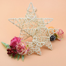 Christmas-Craft Wreath Materials Artificial-Plants Wedding-Decorative-Flowers Star Home-Decor