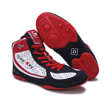 Men Wrestling Shoes Red Boxing Gear for Big Boy Light Weight Wrestling Boots Man Mesh Breathable Men's High Top Sneakers Mens
