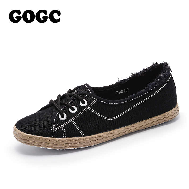 GOGC Brand Autunm Summer Shoes Woman Flat Soft Design Shoes Women Luxury Women Slip on Shoes Ladies Footwear Women Sneakers G981