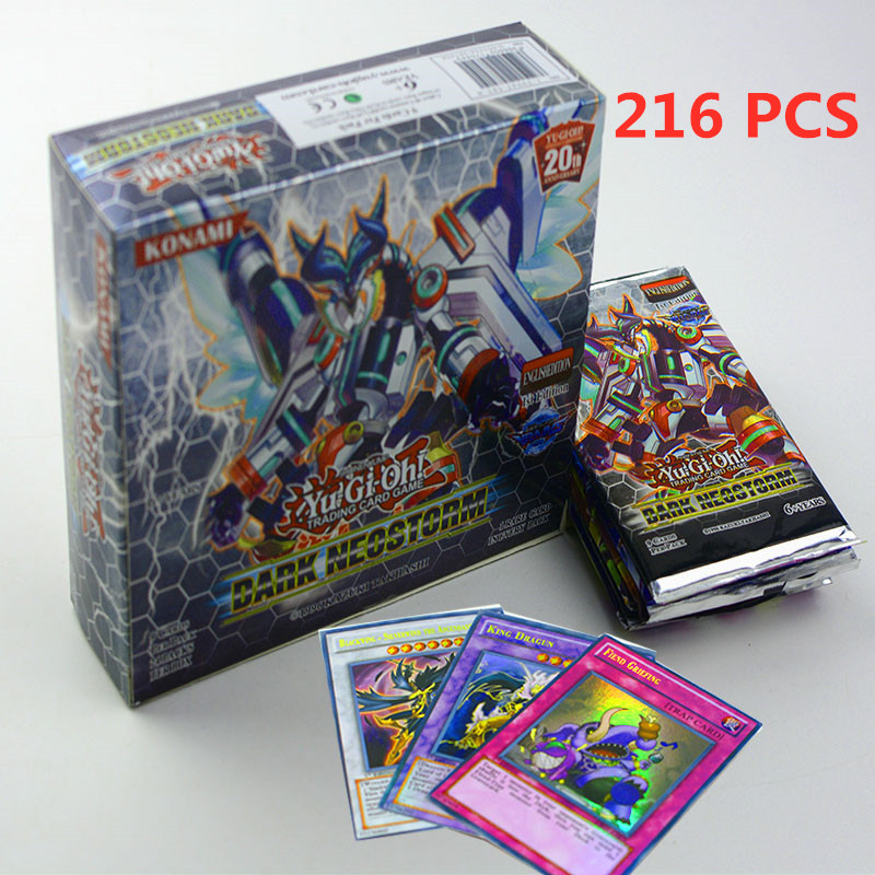 Yugioh 216 Pcs Set With Box Yu Gi Oh Anime Game Collection Cards Kids Boys Toys For Children Christmas Present