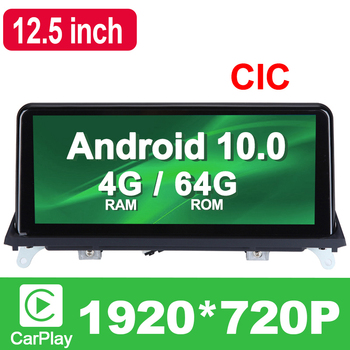 10.25 inch 4G RAM 8 Core Android 10.0 System Car GPS Navigation Media Stereo Radio For BMW X5 E70 X6 E71 2011- 2014 CIC System image